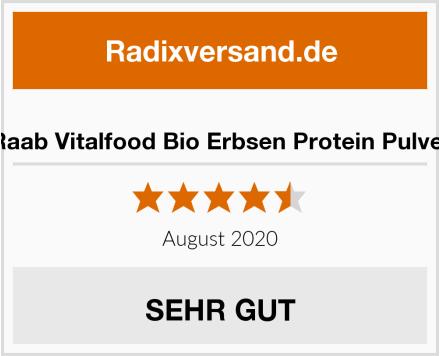 Raab Vitalfood Bio Erbsen Protein Pulver Test