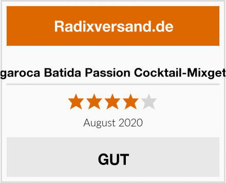 Mangaroca Batida Passion Cocktail-Mixgetränk Test