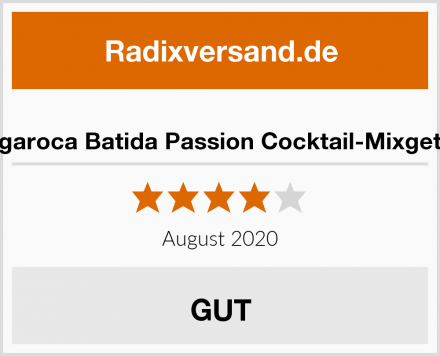 Mangaroca Batida Passion Cocktail-Mixgetränk Test