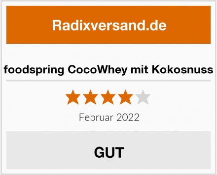 foodspring CocoWhey mit Kokosnuss Test