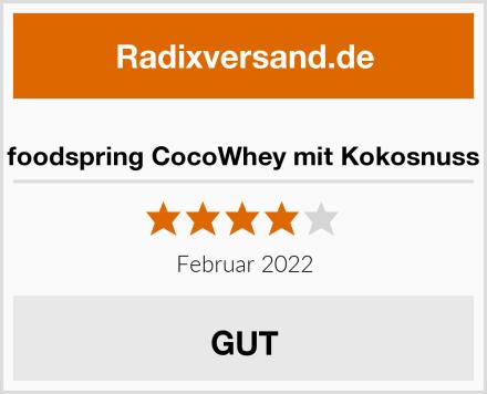 foodspring CocoWhey mit Kokosnuss Test