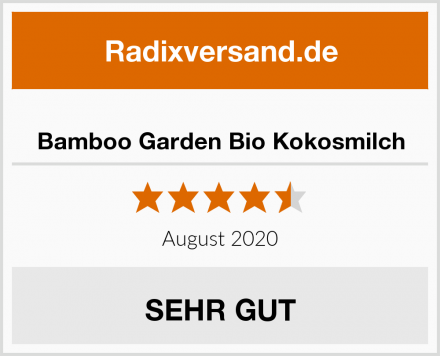 Bamboo Garden Bio Kokosmilch Test