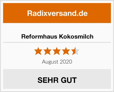 Reformhaus Kokosmilch Test