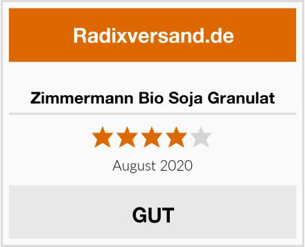 Zimmermann Bio Soja Granulat Test