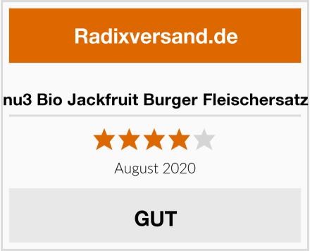 nu3 Bio Jackfruit Burger Fleischersatz Test
