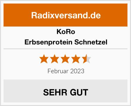Koro Erbsenprotein Schnetzel Test