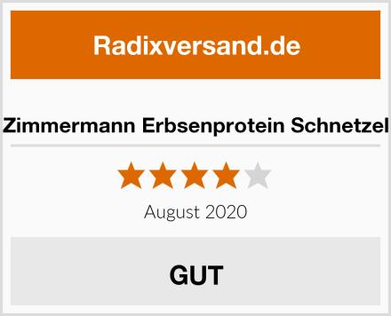 Zimmermann Erbsenprotein Schnetzel Test