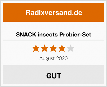 SNACK insects Probier-Set Test