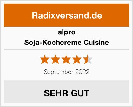 Alpro Soja-Kochcreme Cuisine Test