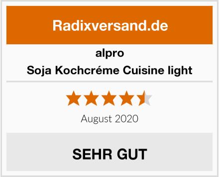 Alpro Soja Kochcréme Cuisine light Test