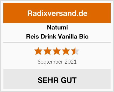 Natumi Reis Drink Vanilla Bio Test