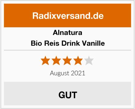 Alnatura Bio Reis Drink Vanille Test