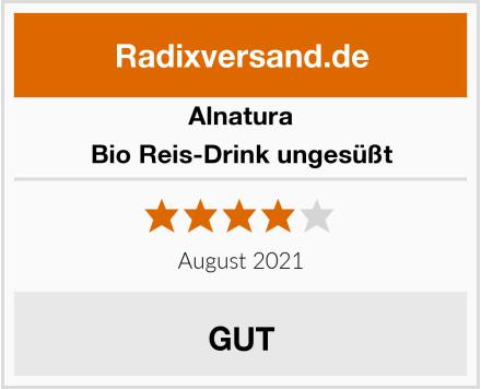 Alnatura Bio Reis-Drink ungesüßt Test