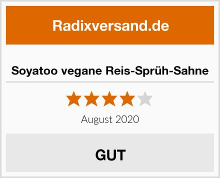 Soyatoo vegane Reis-Sprüh-Sahne Test