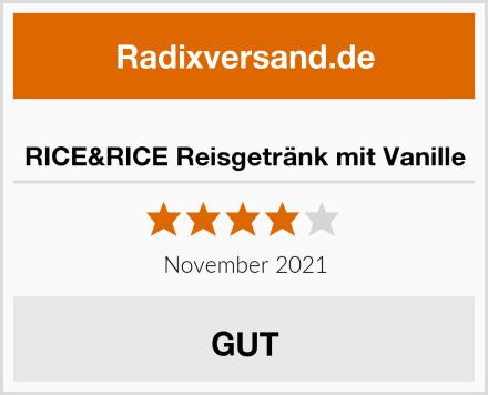 RICE&RICE Reisgetränk mit Vanille Test