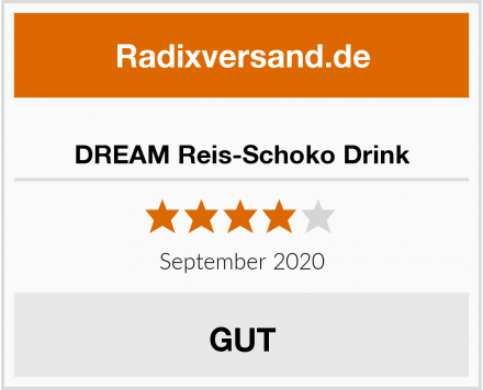 DREAM Reis-Schoko Drink Test
