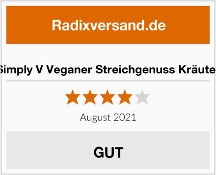 Simply V Veganer Streichgenuss Kräuter Test