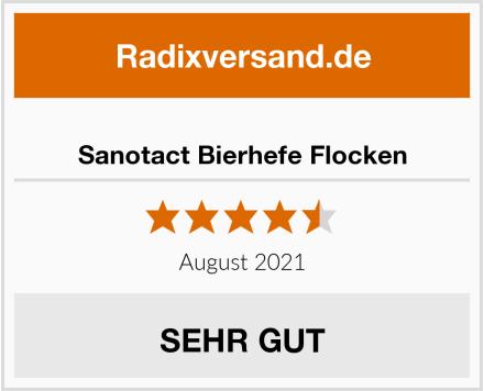 Sanotact Bierhefe Flocken Test