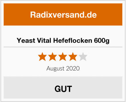 Yeast Vital Hefeflocken 600g Test