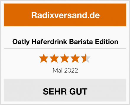 Oatly Haferdrink Barista Edition Test