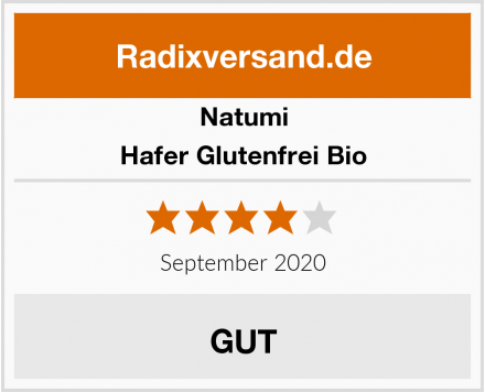 Natumi Hafer Glutenfrei Bio Test