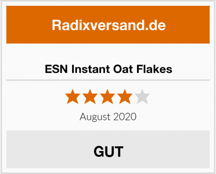 ESN Instant Oat Flakes Test