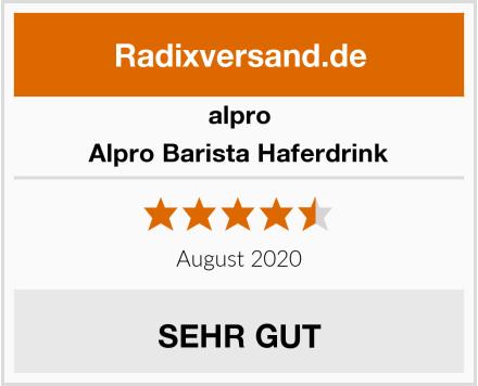 Alpro Alpro Barista Haferdrink Test