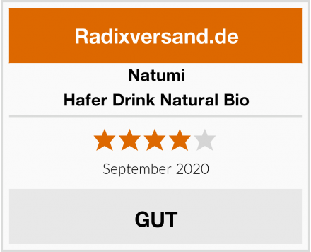 Natumi Hafer Drink Natural Bio Test
