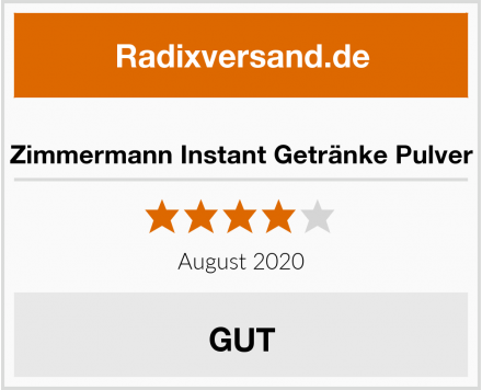 Zimmermann Instant Getränke Pulver Test