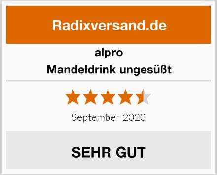 Alpro Mandeldrink ungesüßt Test