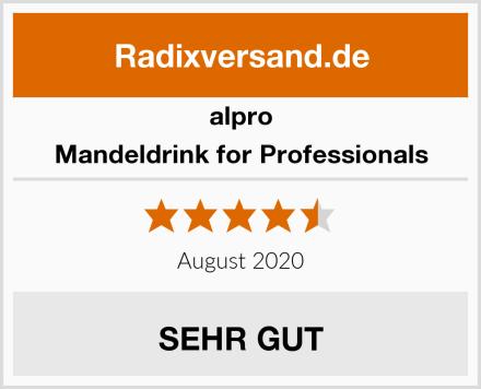 Alpro Mandeldrink for Professionals Test