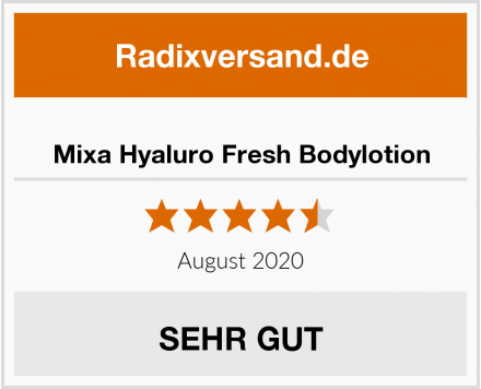 Mixa Hyaluro Fresh Bodylotion Test