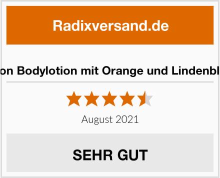 GreenCocoon Bodylotion mit Orange und Lindenblütenwasser Test