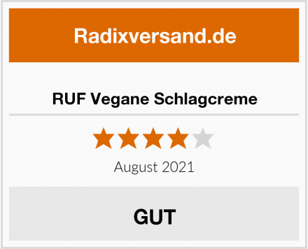 RUF Vegane Schlagcreme Test