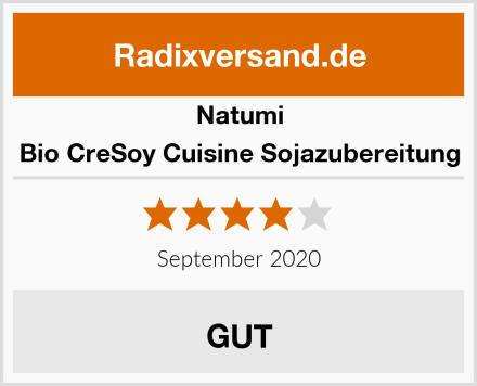 Natumi Bio CreSoy Cuisine Sojazubereitung Test