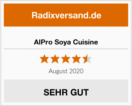 AlPro Soya Cuisine Test
