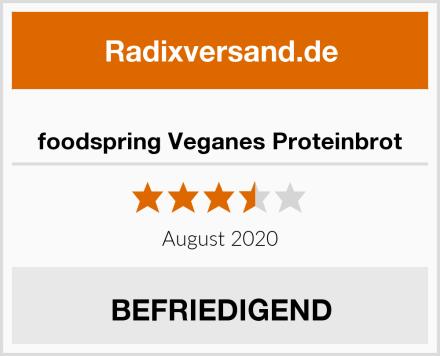 foodspring Veganes Proteinbrot Test