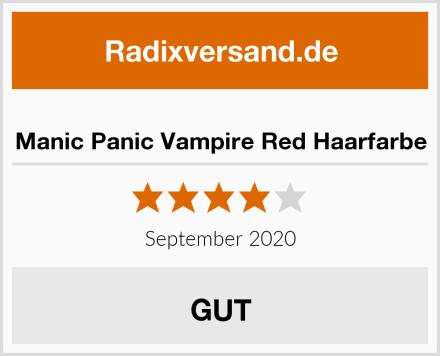 Manic Panic Vampire Red Haarfarbe Test