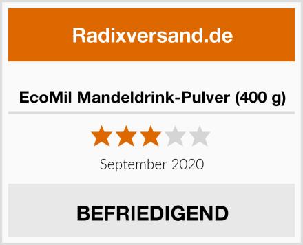 EcoMil Mandeldrink-Pulver (400 g) Test