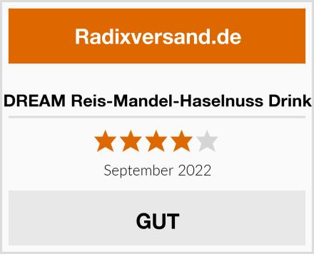 DREAM Reis-Mandel-Haselnuss Drink Test