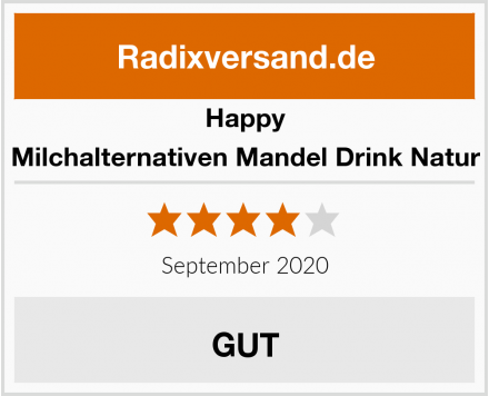 Happy Milchalternativen Mandel Drink Natur Test