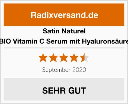 Satin Naturel BIO Vitamin C Serum mit Hyaluronsäure Test