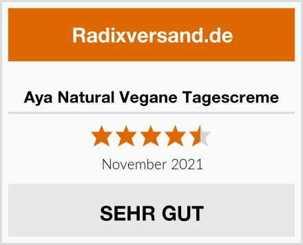 Aya Natural Vegane Tagescreme Test