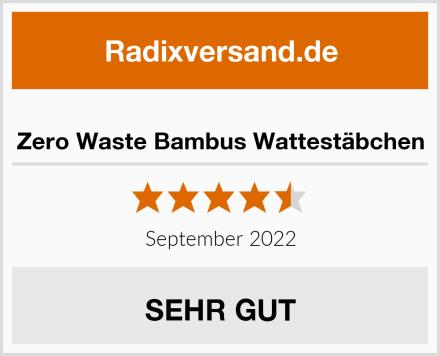 Zero Waste Bambus Wattestäbchen Test