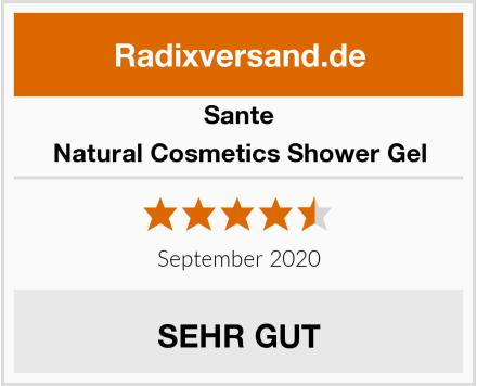Sante Natural Cosmetics Shower Gel Test