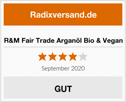 R&M Fair Trade Arganöl Bio & Vegan Test