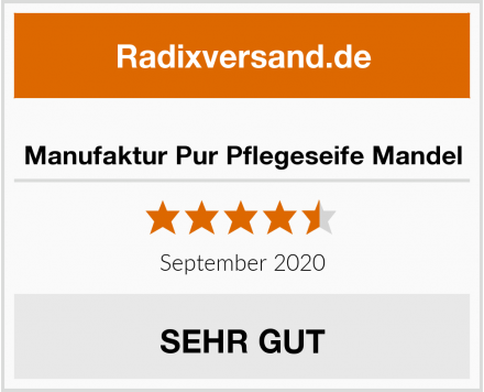 Manufaktur Pur Pflegeseife Mandel Test