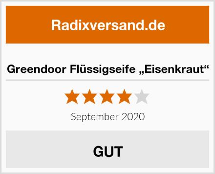 "Greendoor Flüssigseife ""Eisenkraut"" Test"