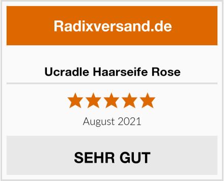 Ucradle Haarseife Rose Test