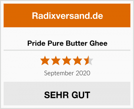 Pride Pure Butter Ghee Test
